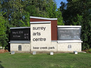 Surrey Arts Centre (street sign)