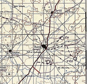 Survey of Palestine 1942-1958 1-100,000 11Gaza Burayr (cropped2).jpg