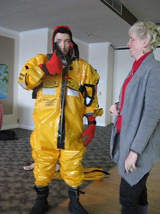 Survival suit - Practicing with a survival suit