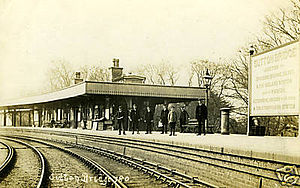 Sutton Bridge - Sutton Bridge railway station ca. early 20th century.