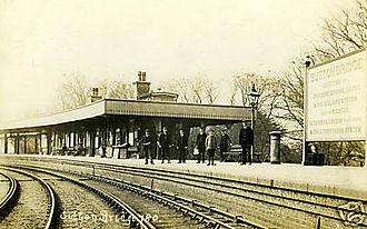 Sutton Bridge - Sutton Bridge railway station ca. early 20th century.