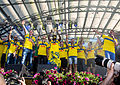 Sweden national under-21 football team celebrates in Kungsträdgården 2015-8.jpg