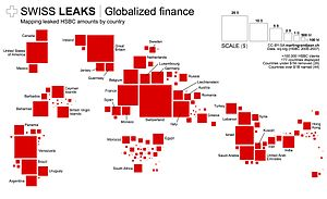 Swiss Leaks - Swissleaks: the map of the HSBC bank accounts