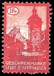 Switzerland Schaffhausen City 1919 revenue 2 11a.jpg