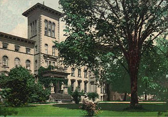 Tipperary Hill - Syracuse Idiot Asylum, Wilbur Avenue, Syracuse, 1906 postcard