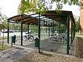 Szeged Makkosház B+R kerékpártároló 2012-09-12.JPG