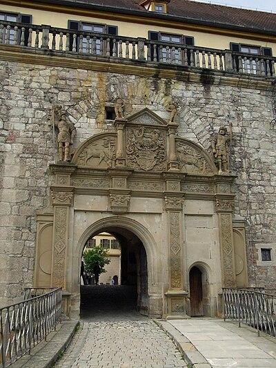 Tübingen-Schloß Hohentübingen-oberes Burgtor52466.jpg
