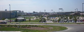 Economy of Omaha, Nebraska - TD Ameritrade Park Omaha being built next to the CenturyLink Center Omaha in Downtown.