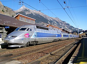 Modane - A Paris-Milan TGV in the Gare de Modane