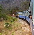 THAI RAILWAYS KRUPPS LOCO HAULED TRAIN FROM NAM TOK TO RIVER KWAI BRIDGE THAILAND JAN 2013 (8527015599).jpg