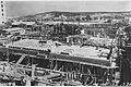 """THE Y.M.C.A. BUILDING IN JERUSALEM DURING ITS CONSTRUCTION. מראה כללי של אחד משלבי הבנייה של בניין ימק""""א בירושלים.D637-041.jpg"""
