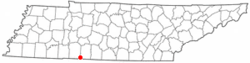 Location of Iron City, Tennessee