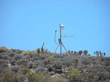 a closed circuit tv camera watches over the perimeter of area 51