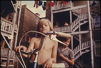 Poverty in the United States - A neighborhood of poor white southerners, Chicago, 1974