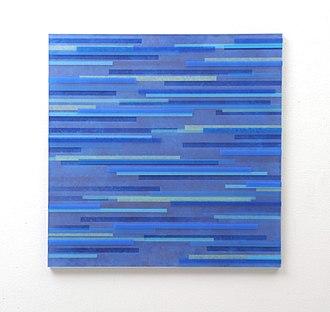 Achim Zeman - Image: Tafelbild blau ohne Titel 2012 Acrylglas, Siebdruckfarbe 72 x 72 cm