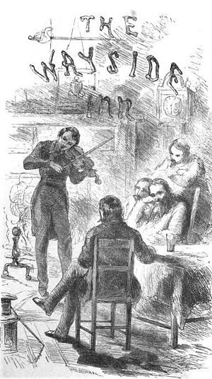 Tales of a Wayside Inn - Title page illustration for an 1864 edition of Tales of a Wayside Inn