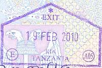 Exit stamp