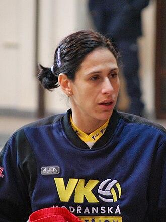 Olympiacos women's volleyball - Image: Tatiana Artmenko 2010