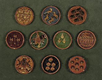 Ganjifa - Various Ganjifa cards from Dashavatara set