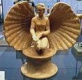 Terracotta statuette of Aphrodite in a shell, 3rd century BC, Staatliche Antikensammlungen, Munich (8958060758).jpg