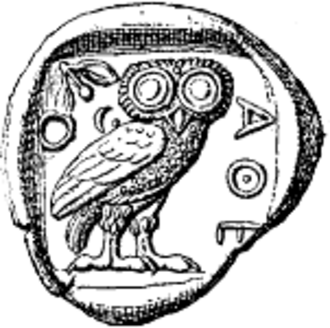 Phi Sigma Tau - The reverse of the Athenian tetradrachm is the seal of ΦΣΤ.