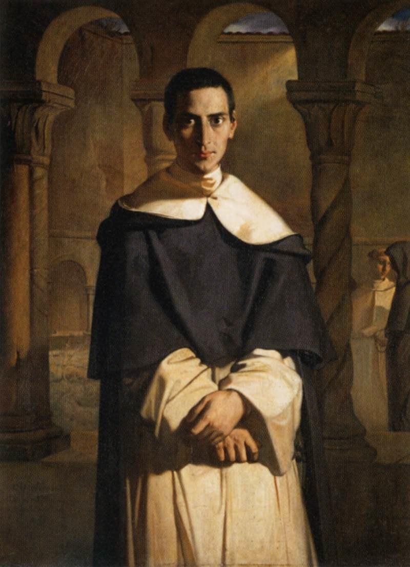 Théodore Chassériau - Reverend Father Dominique Lacordaire - WGA4805