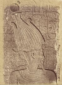 Théodule Devéria (French) - (Close-up of a Sculpture (Profile of a Head), Karnak) - Google Art Project.jpg
