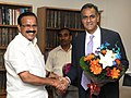 The Ambassador of the United States of America, Mr. Richard Rahul Verma calls on the Union Minister for Law & Justice, Shri D.V. Sadananda Gowda, in New Delhi on September 03, 2015.jpg