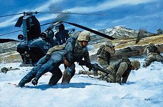 Battle of Takur Ghar - An artist's rendition of the battle