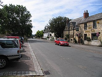 Prestbury, Gloucestershire - Image: The Burgage and Royal Oak, Prestbury geograph.org.uk 36714