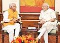 The Chief Minister of Haryana, Shri Manohar Lal Khattar calls on the Prime Minister, Shri Narendra Modi, in New Delhi on August 06, 2015.jpg