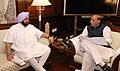 The Chief Minister of Punjab, Captain Amarinder Singh calling on the Union Home Minister, Shri Rajnath Singh, in New Delhi on April 19, 2018.JPG