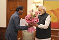 The Chief Minister of Telangana, Shri K. Chandrashekar Rao calls on the Prime Minister, Shri Narendra Modi, in New Delhi on February 16, 2015.jpg