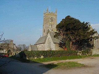 Crowan village and civil parish in the west of Cornwall, England