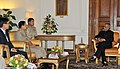 The Commander-in-Chief of Defence Services of the Republic of the Union of Myanmar, General Min Aung Hlaing calling on the President, Shri Pranab Mukherjee, at Rashtrapati Bhavan, in New Delhi on August 03, 2012.jpg