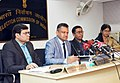 The Deputy Election Commissioners, Shri Chandra Bhushan Kumar and Shri Sudeep Jain holding a press conference on completion of voting in Meghalaya & Nagaland, in New Delhi on February 27, 2018 (1).jpg