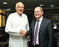 The First Mayor of Hamburg, Federal Republic of Germany, Mr. Olaf Scholz meeting the Union Minister for New and Renewable Energy, Dr. Farooq Abdullah, in New Delhi on October 16, 2012.jpg