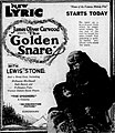 The Golden Snare (1921) - Ad 1.jpg
