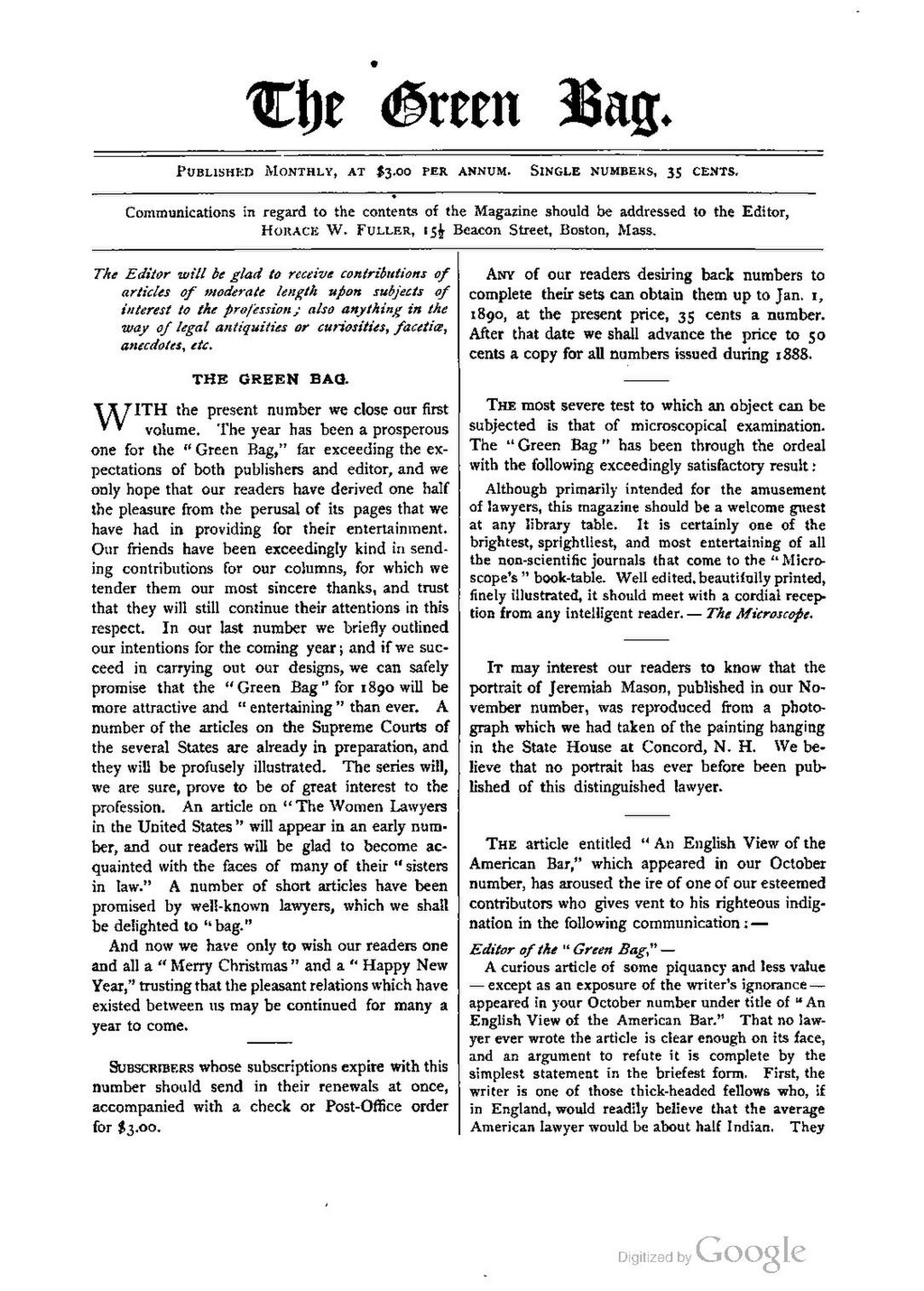 Page:The Green Bag (1889–1914), Volume 01 pdf/596
