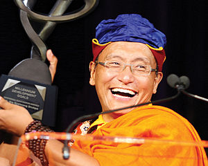 The Gyalwang Drukpa received the United Nations Millennium Development Goals (MDG) Honour in September 2010