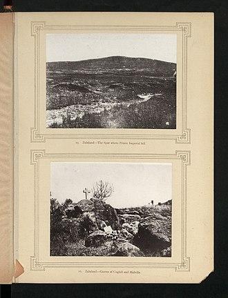 Napoléon, Prince Imperial - Where the Prince was killed (top photo)