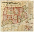 The National Publishing Companys railroad, post office, township and county map of Massachusetts, Rhode Island and Connecticut with distances in figures compiled from the latest government surveys and original sources (9136603283).jpg