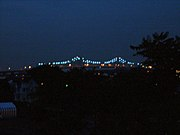 The Outerbridge Crossing, at night