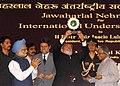 The President, Dr. A.P.J. Abdul Kalam conferred Jawahar Lal Nehru Award for International Understanding for the year 2006 to the President of Brazil, Mr. Luiz Inacio Lula da Silva, in New Delhi on June 4, 2007.jpg