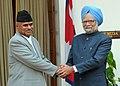 The Prime Minister, Dr. Manmohan Singh meeting the President of Nepal, Dr. Ram Baran Yadav, in New Delhi on February 16, 2010.jpg