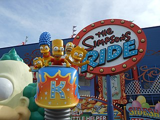 <i>The Simpsons</i> Ride theme park attraction housed at Universal Studios Florida and Universal Studios Hollywood