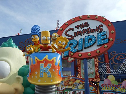 The Simpsons Ride at Universal Studios Florida. The Simpsons Ride at Universal Studios Florida.jpg