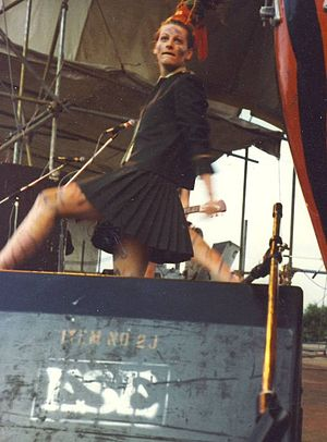 Ari Up - Ari Up playing with the Slits at the Beat the Blues Festival, Alexandra Palace, June 15, 1980.