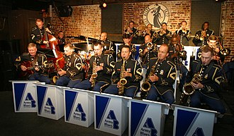 United States Army Band - The Army Blues during a sit down performance in 2008.