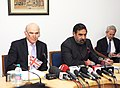 The Union Minister for Commerce and Industry, Shri Anand Sharma and the Secretary of State for Business, Innovation & Skills, UK, Dr. Vince Cable at the Joint Press Conference, in New Delhi on January 19, 2011.jpg